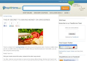 The #1 Secret to Saving Money on Groceries